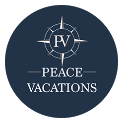 Peace Vacations Circle Logo